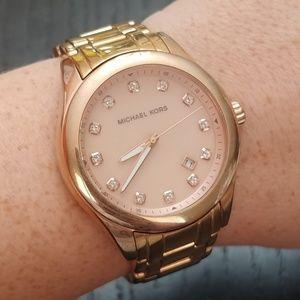 Rose gold Michael Kors watch - needs battery